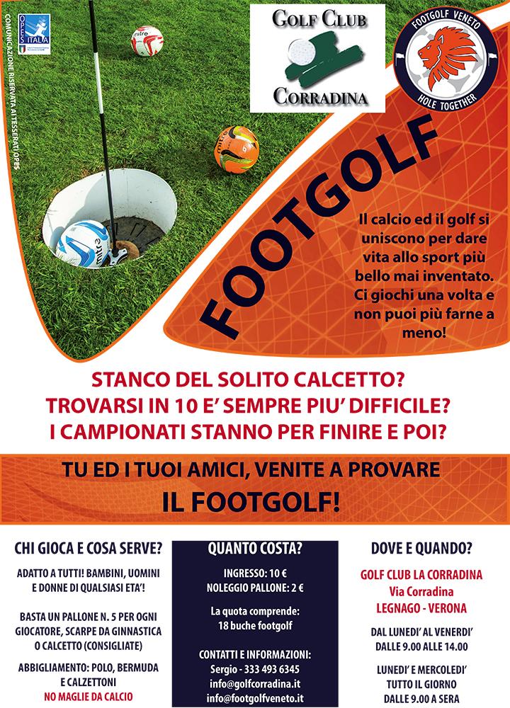 Venite a provare il Footgolf in Corradina